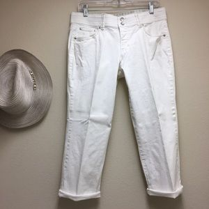 ⬇️$ BANDOLINA White CAPRI Stretch Size 8 Jeans